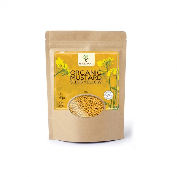 Organic Mustard Seeds Yellow 250 gm